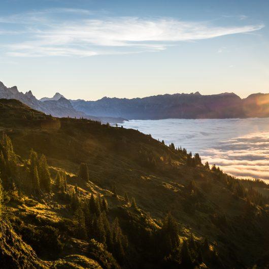 Leogang-Berge mit Wolkenteppich
